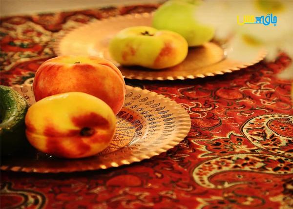 ست 6 عددی بشقاب میوه خوری مسی نانوشده، طرحی جدید، مناسب برای سرو انواع میوه