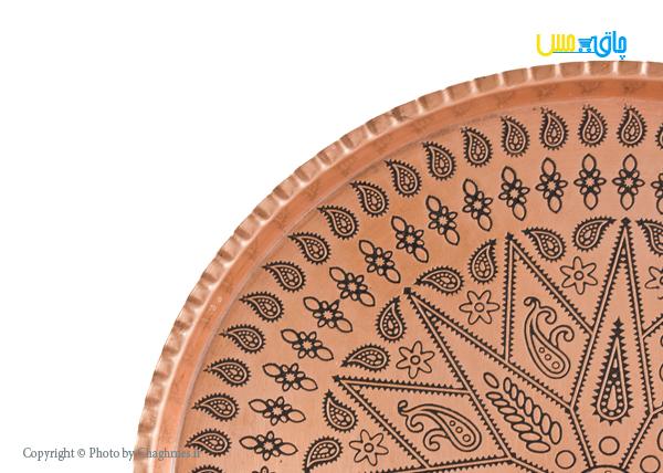 سینی مسی طرح گرد سایز 7، نانوشده و مناسب هدیه دادن به عزیزانتان