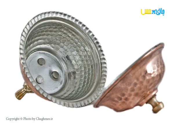 قندان مسی پایه برنجی ، مدل کوچک ، زیبا و مناسب پذیرایی