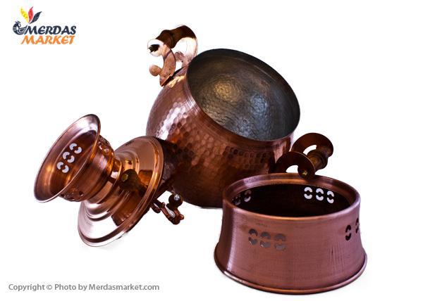 روگازی مسی پایه دار 2.5 لیتری، مدل تخم مرغی سایز کوچک